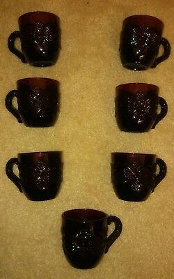 (7) Ruby Red Avon Cape Cod Cup