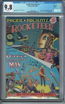 Cgc 9.8 Pacific Presents #1 White Pages Early Rocketeer Appearance Dave Stevens