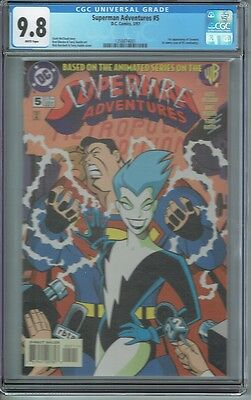 Cgc 9.8 Superman Adventures #5 White Pages 1St Appearance Livewire