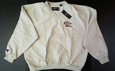 "New ""Full Tilt Poker"" Pullover Page & Tuttle Large Golf Windbreaker"