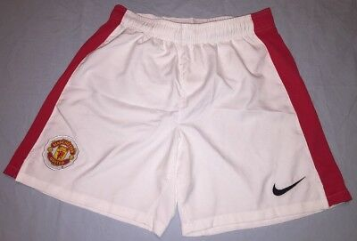 Manchester United Nike Youth Sz Large 14-16 White w/ Red Stripes