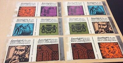 Seppeltsfield Matchbox Cover Collection. Full Set Of Matchbox Skillets