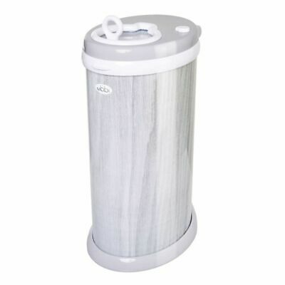 New Ubbi Nappy Diaper Pail Bin Eco Friendly - Grey Chevron Colour Ltd Edition