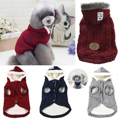 Handmade Pet Sweater Dog Cat Puppy Winter Warm Clothes Jacket Coat Apparel