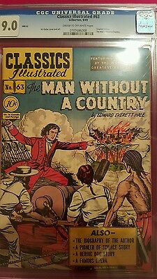 1949 Classics Illustrated  #63 Man Without A Country   - Cgc Universal Grade 9.0