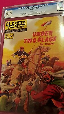 1951 CLASSICS ILLUSTRATED  #86 UNDER TWO FLAGS - 1st   - CGC UNIVERSAL GRADE 9.0