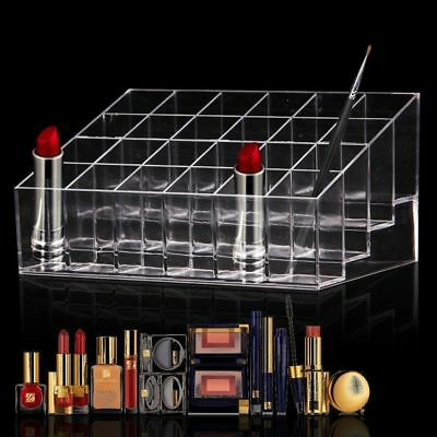 Clear Acr Zxic 24 Lipstick Holder Display Stand Cosmetic Organizer Makeup Case