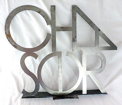 Chaser Brand Clothing Company Metal Retail Store Display Sign Los Angeles