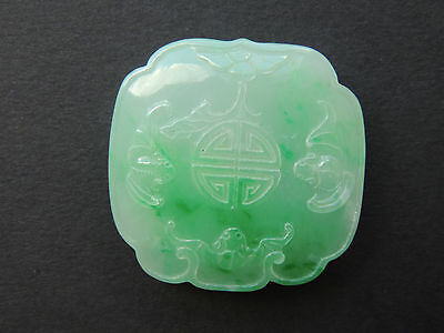 Chinese Carved Bats Jadeite