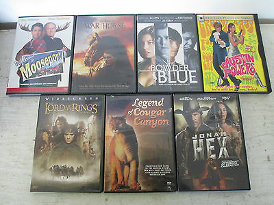 Lot of 7 Actions, Drama, Comedy DVD's, Great Condition, See Details