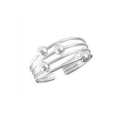 NEW Sterling Silver Banded Toe Ring Adjustable boho beach style