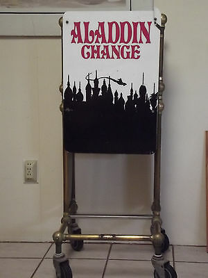 Aladdin Hotel And Casino Las Vegas Nevada-Brass Change Cart-Vintage