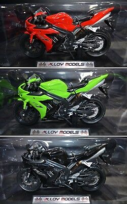 3 x 1:12 Racing Yamaha YZF-R1 Alloy Models Diecast Motorcycle Bike Models