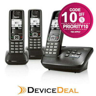 Siemens Gigaset A420A TRIO Cordless Analog Phone with 3 Handsets and Answering M