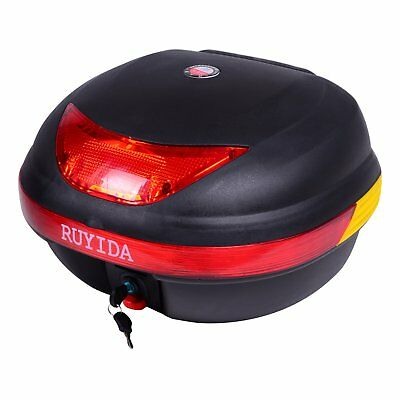 32L Matte Motorcycle TOP Tail Box Scooter Back Motorbike Luggage Rear Storage