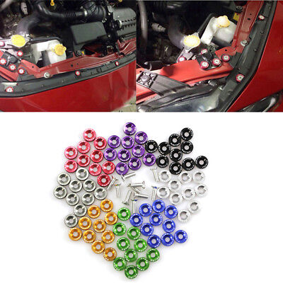 X10 Car Styling Universal Anodized Aluminum Fender Washers M6x20 Steel Bolts