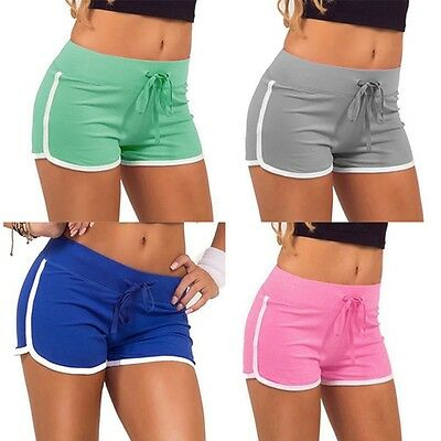 Summer Casual Yoga Sports Shorts  Pants Gym Workout  Waistband Skinny Yoga Short