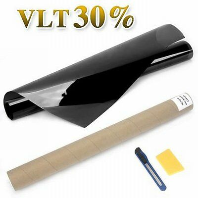 NEW 76cm x 7m Car House Window Tint Film Black, 30% Visible Light Transmission