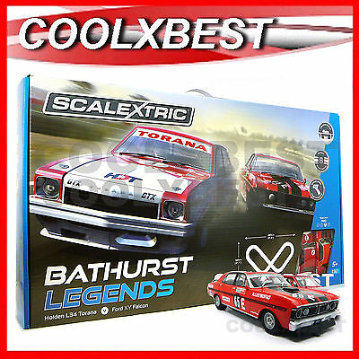 NEW SCALEXTRIC 1:32 BATHURST LEGENDS SLOT CAR SET FALCON v TORANA BROCK MOFFAT