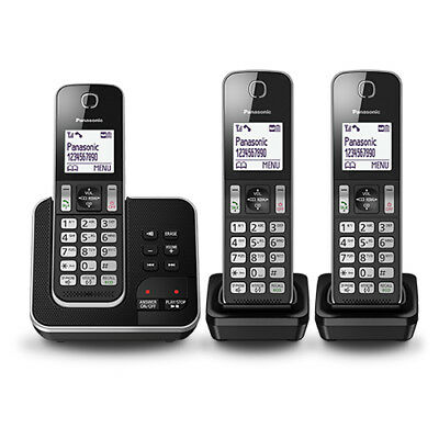 Panasonic KX-TGD323ALB Cordless Phone (TRIPLE) with GEN PANASONIC WARR