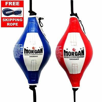 MORGAN ENDURANCE FLOOR TO CEILING BALL + Adjustable Straps - speed boxing oval