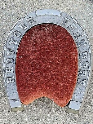 Victorian antique good luck Horseshoe foot stool rest from old shoe store