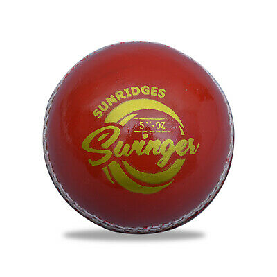 SS TON SWINGER 2 Piece Red LEATHER Cricket Ball 1/2/3/6/12+OZ Stock +Free Ship