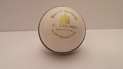 Stanford SF Match Special 4 piece White LEATHER Cricket Ball 1/2/3/6/12 +OZStock