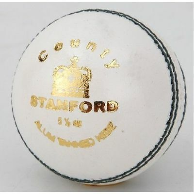 Stanford SF County 4 piece White LEATHER Cricket Ball 1/2/3/6/12 + OZ Stock