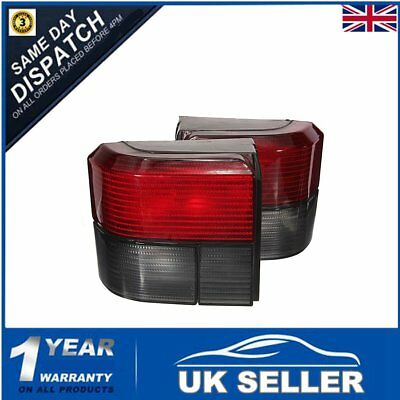 For Vw Transporter T4 Caravelle Rear Back Tail Lights Red / Smoked Lamps Pair