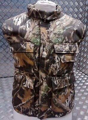 Hunters Action Vest Tree Camo Tactical Fishing Body Warmer All Sizes - NEW