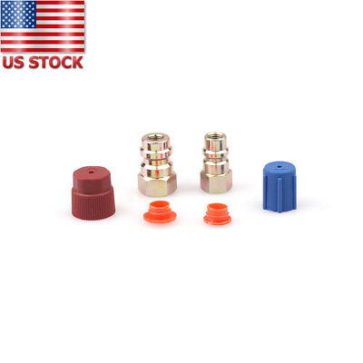 AC R12 to R134A Quick Connector Fitting Hose Port Adapter Auto Car High/Low ncp