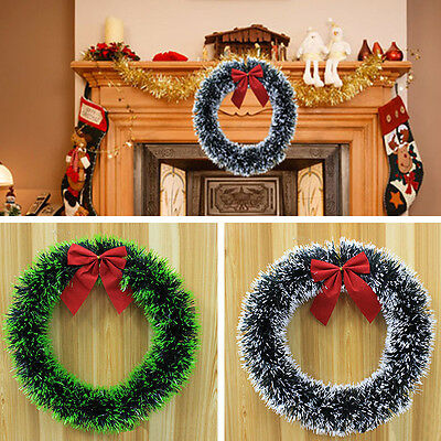 Luxury Christmas Madder Bowknot Wreath Xmas Tree Home Holiday Decoration Garland