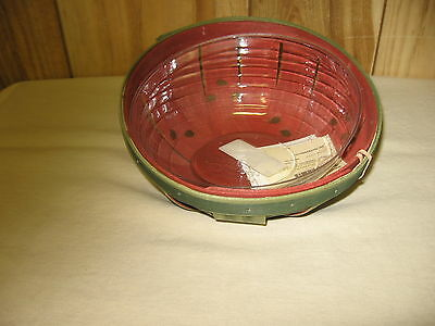 Longaberger 2013 Small Watermelon Bowl Basket With Protector(New)