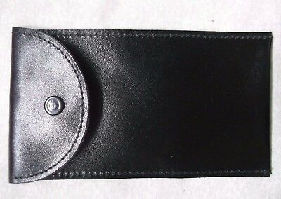 Wallet Vintage Leather CASE POUCH BLACK 1980s 1990s