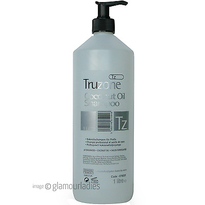 TRUZONE 1 Litre Coconut Oil Professional Shampoo with Pump - Salon Hair Dressing