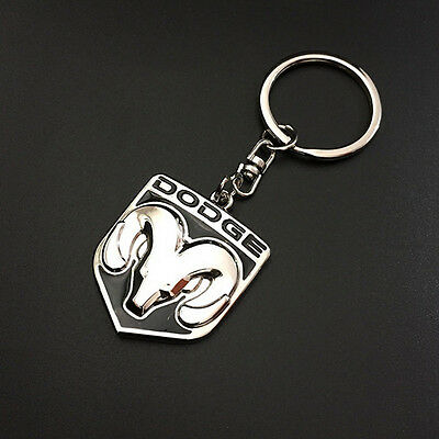 Delicate car Key Chain Metal, Single Side, Keychain Key Ring for Dodge Ram Head