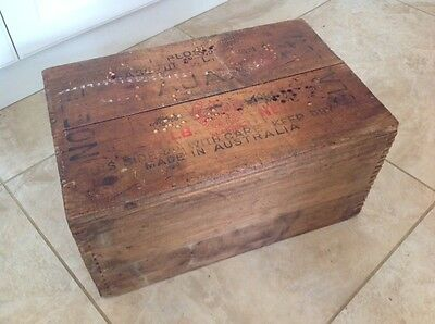 "AJAX NOBEL GLASGOW EXPLOSIVES TIMBER BOX 18 1/2""x 12""x 9 1/4"" DOVE TAIL JOINTS"