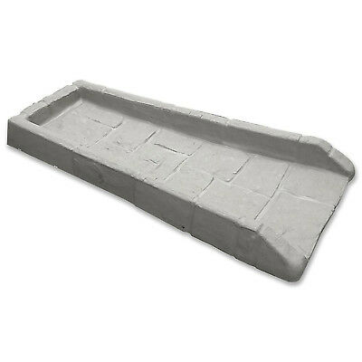 Rain Gutter Downspout Extension 21 1/2 In Splash Block Outdoor Gray Poly Plastic