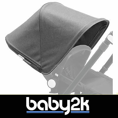 Bugaboo Cameleon 3 Spare Replacement Extendable Hood Sun Canopy Grey Melange BN