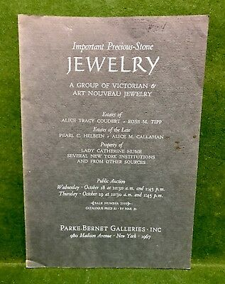 Parke-Bernet Magnificent Jewelry Public Auction Catalog #2599 Oct. 18-19, 1969NY