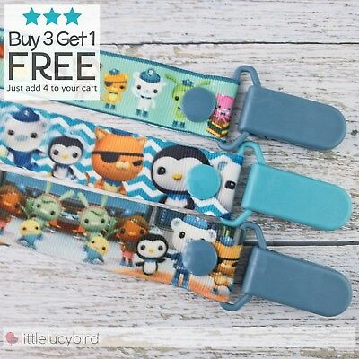 Octonauts Dummy Clip - Pacifier Clips - Soother Chain - Binky - Baby Gift