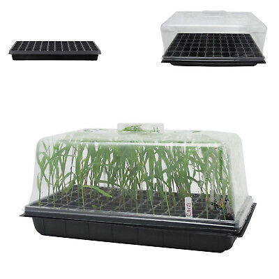 """Seed Starter Kit 10"""" X 20"""" 72 Tray Plant Propagation Cloning Humidity Dome 7 In"""