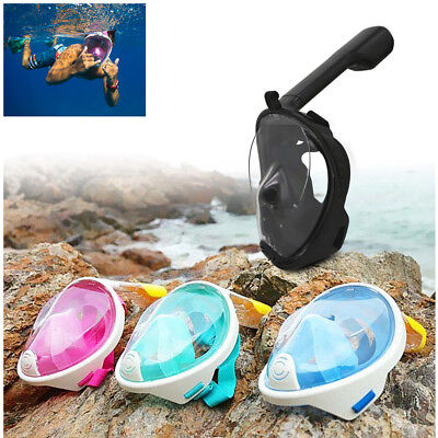 Full Face Snorkeling Mask Scuba Diving Swimming Snorkel Breather Pipe Gopro Hot