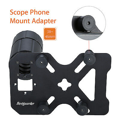 Universal Scope Phone Mount Adapter Spotting Holder 38-46MM Adjustable Bracket