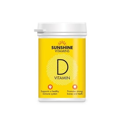Sunshine Vitamin D Tablets Daily Tanning Supplements (60 Tablets)