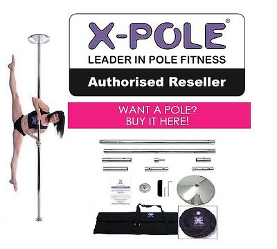BRAND NEW 2017 X-POLE® 45mm XPert CHROME SET + FREE CARRY BAGs ✩