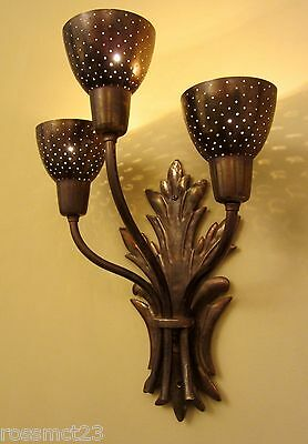 Vintage Sconces five matching Mid Century wall lights   More Available