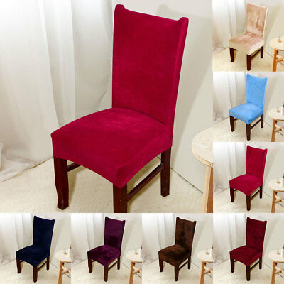 Chair Covers Fox Pile Fabric  Wedding Banquet Anniversary Party Decor -7 Colours