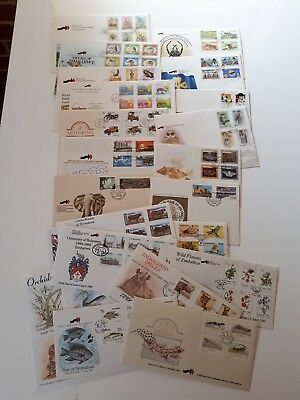 Bulk Lot of 28 Zimbabwe First Day Covers, Mainly Mid 90's